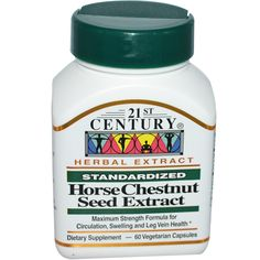 21st Century Health Care, Horse Chestnut Seed Extract, Standardized, 60 Veggie Caps
