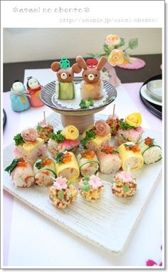 「【作り方】ひな祭りごはん*プチケーキ寿司オードブル」の画像 asamiのお弁当。簡単かわいいキャラ…  Ameba (アメーバ)