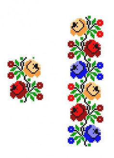 Cross Stitch Cards, Cross Stitch Borders, Cross Stitch Rose, Simple Cross Stitch, Cross Stitch Flowers, Cross Stitch Designs, Cross Stitching, Cross Stitch Patterns, Polish Embroidery