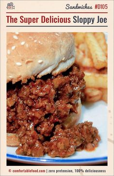 The Super Delicious Sloppy Joe & Video The Best Sloppy Joe Recipe Ever. Best Sloppy Joe Recipe Ever, Sloppy Joe Recipe Pioneer Woman, Sloppy Joes Recipe, Sloppy Joe Recipe With Chili Sauce, Cooking Courses, Cooking Recipes, Healthy Recipes, Best Beef Recipes, Cooking Kale