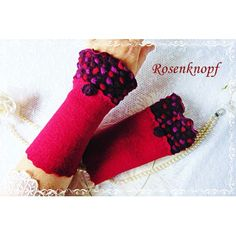 Walkstulpen ROISE Armstulpen Rot Bordeaux Rose - 19,50€