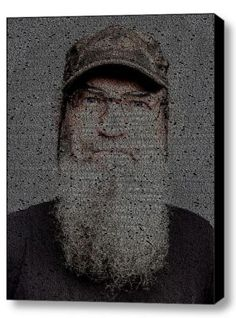 Duck Dynasty Si Quotes Mosaic INCREDIBLE Framed 9X11 Limited Edition Art w/COA