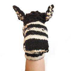 Zebra Glove Puppets, hand puppets