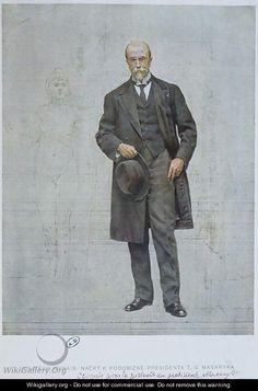 Thomas Garrigue Masaryk 1850-1937 - Vojtech (Adalbert) Hynais Frantisek Kupka, National Theatre, European Countries, Mondrian, Klimt, Czech Republic, Prague, Modern Art, Museum