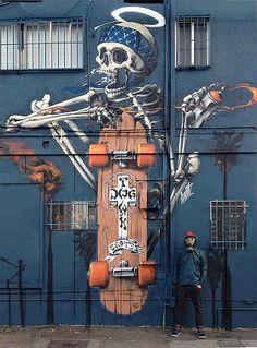Graffiti Art Wall| Serafini Amelia| Dog Town Skates, Venice Beach, CA, signed by HUIT. ♔QueenBee♔
