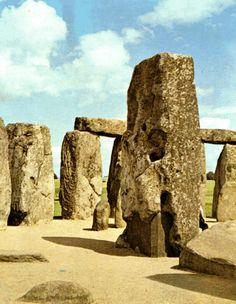 Monumento megalítico de Stonehenge - Arte neolítica, Salisbury, Grã-Bretanha.