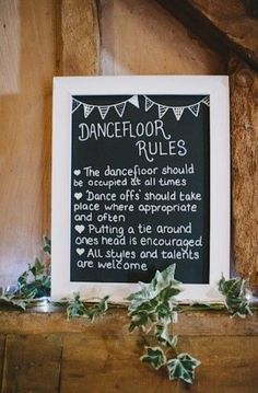 The dance floor rules