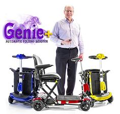 GENIE Plus  Automatic Folding Travel Mobility Scooter with REMOTE control Lithium Lightweight Solax -- Locate the offer simply by clicking the image
