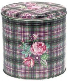 GreenGate Tin Boxes Round Valery White http://www.originated-shop.eu/c-1196917/teatowels-greengate/