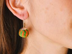 Silver & Toquilla Earrings / Orange & Green – Raíces. www.raices.co.uk South American Countries, Drop Earrings, Jewelry, Blue Prints, Jewlery, Jewerly, Schmuck, Drop Earring, Jewels