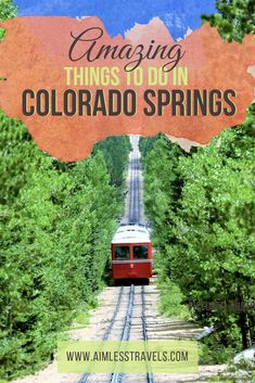 Check out our favorite things to do in Colorado Springs. Let our guide help you plan your next trip to Colorado Springs, CO! Vail Colorado, Boulder Colorado, Road Trip To Colorado, Road Trip Usa, Colorado Hiking, Colorado Mountains, Train Rides In Colorado, Cripple Creek Colorado, Colorado Tourism