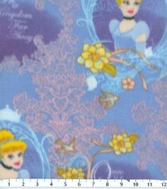 Disney Cinderella Once Upon A Time Frames Fleece Fabric