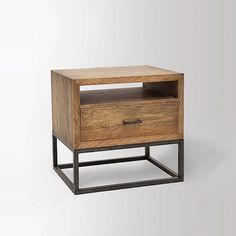 Copenhagen Reclaimed Wood Nightstand | West Elm (Joe nightstand)
