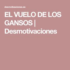 EL VUELO DE LOS GANSOS | Desmotivaciones
