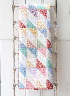1930's Style Diamond Scrap Quilt