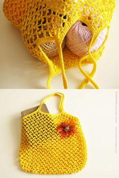 Crochet Shopping Bag - Tutorial ❥ 4U hilariafina http://www.pinterest.com/hilariafina/