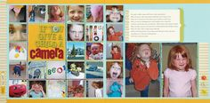 Scrapbook How To: Hand Stitch a Photo Grid