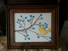 Yellow+bird+on+canvas+by+imberRoad+on+Etsy
