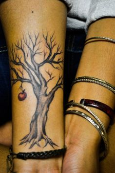 apple tree tattoo
