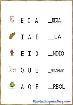 Conciencia Fonológica - Empieza por vocal   Scribd Phonics Activities, Preschool Curriculum, Teaching Spanish, Teaching Kids, Kids Education, Special Education, Learning Websites For Kids, School Worksheets, Speech Language Therapy