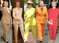 Happy 68th Birthday, Hillary Clinton! See All of Her Colorful Pantsuits Throughout the Years  Hillary Clinton