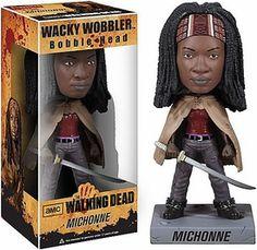 Funko Walking Dead Wacky Wobbler Bobble Head Michonne New!