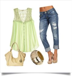 Light and Cool for Summer, created by kathy-shankland-glascock on Polyvore