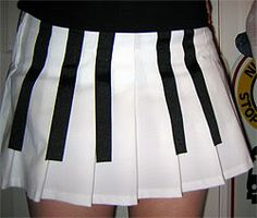 """Piano Key Skirt. Fran Drescher actually wore a super-cute mini-dress version of this on """"The Nanny"""" and it was truly adorable. Next Halloween?"""