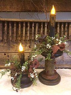 Primitive Antique Wooden Spool Bobbin Timer Candle Home Decor Accent Primitive Homes, Primitive Kunst, Primitive Antiques, Country Primitive, Primitive Kitchen, Primitive Bathrooms, Primitive Snowmen, Primitive Bedroom, Primitive Stitchery