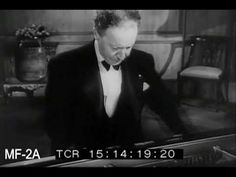 Arthur Rubinstein playing Chopin in his home. 1950. Archived newsreel. video 24 mins.