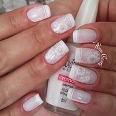 Ideas French Manicure 2018 Spring For 2019 French Manicure Acrylic Nails, Glitter Manicure, Manicure Colors, Long Acrylic Nails, French Nails, Nail Manicure, Nail Colors, Gorgeous Nails, Pretty Nails