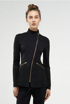 This ladies black cotton club wrap beauty tunic skin for Spa uniform cotton