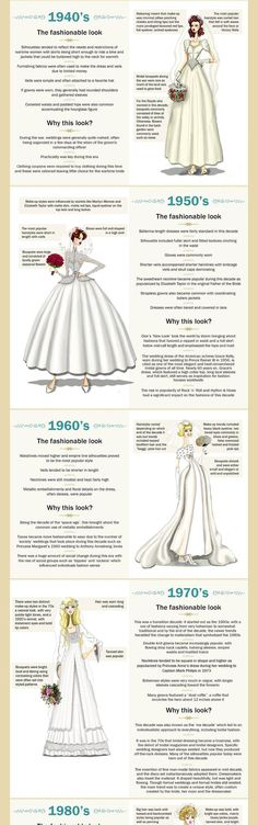 Because we live in the 2010s doesn't mean we can't get inspired from wedding dress trends of previous decades.