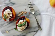 get some coconuts: grilled peaches
