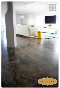 Concrete floor idea