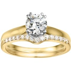 10K yellow gold Classic Solitaire Enhancer