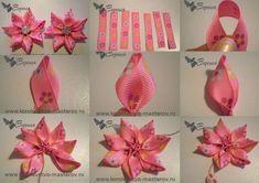 flores de cinta paso a paso - Buscar con Google