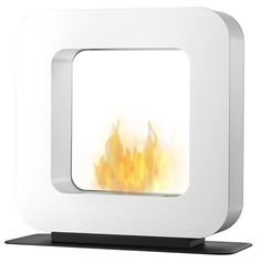 Curva ST Wit Safretti Fireplace Collection - #Fireplace #InteriorDesign #Fire #Safretti