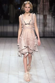 What's with all the naked dresses at Alexander McQueen Ready-To-Wear A/W 2016-17?