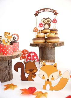 take a look at this adorable woodland inspired birthday party. The printables are so cute!! See more party ideas and share yours at CatchMyParty.com