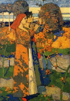 David Gauld (1865-1936) Music in Japan, 1888 oil on canvas Hunterian Museum and Art Gallery (Scotland) (via Pin by jennifer pullium green on PORTRAITURE PAINTERS   Pinterest)