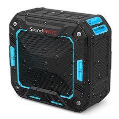 SALE PRICE $23.99 - SoundPEATS Outdoor Bluetooth Speakers Portable Wireless Speakers Waterproof Shower Speaker (IP65 Water Resistant / Dustproof, 10 Hours Play Time, Powerful 5W Driver, Built in Microphone)