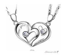 Partnerketten Herz Love You & Miss You 925  Silber...