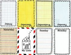 journal cards - good for project life