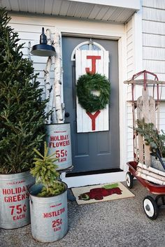 BHG Vintage Living-Galvanized Containers To Hold Logs and Greenery