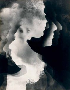 Facing the Shadow Self (Arthur Siegel) Abstract Photography, Love Photography, Black And White Photography, Experimental Photography, Multiple Exposure, Double Exposure, Positive And Negative, Negative Space, Photomontage