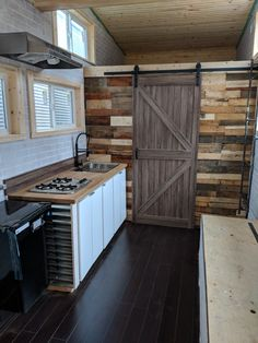 Prefab, Cladding, French Doors, Homesteading, Beams, Tiny House, Building A House, Tiny Cottages, Patio