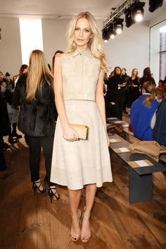 Poppy Delevingne attends the Michael Kors fashion show during Mercedes-Benz Fashion Week Fall 2015 on February 18, 2015 in New York City.