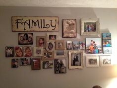 Family wall pictures collage