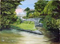 Canal Walk, Galway  Oil on Canvas  12 X 16